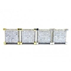 10k Gold Diamond Cube Earrings 0.46ct