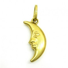 14k Yellow Gold Moon Pendant