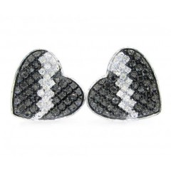 10k White Gold Diamond Heart Earrings 0.40ct