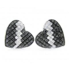 10k White Gold Diamond Heart Earrings 0.40ct