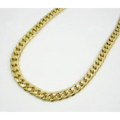 10k Yellow Gold Thick Miami Link Chain 22-30 Inch 6.5mm