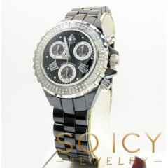 Ladies Techno Jpm Black Ceramic Diamond Watch 1.25ct