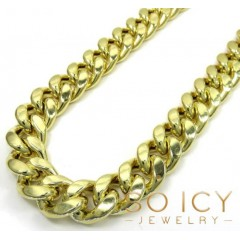 10k Yellow Gold Wide Miami Cuban Chain 13mm 24-34