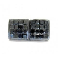14k Black Gold Black Diamond Cube Earrings 1.40ct