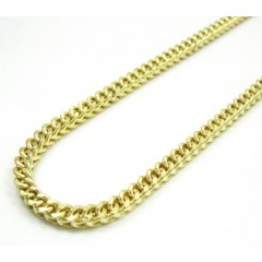 Mens 10k Yellow Gold Franco Chain 20-30 Inch 3mm