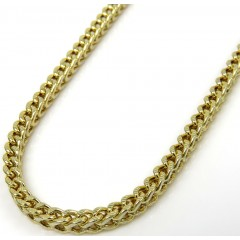 Mens 10k Yellow Gold Diamond Cut Franco Chain 18-26 Inch 2.2mm