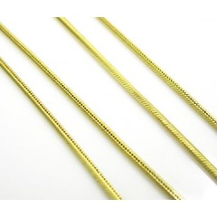 14k Solid Yellow Gold Snake Link Chain 20 Inch 1mm