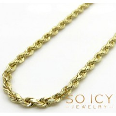 10k Yellow Gold Solid Rope Chain 18-24 Inch 2.30mm