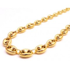 10k Yellow Gold Gucci Link Chain 24-30 Inch 7.80mm