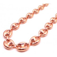 10k Rose Gold Gucci Link Chain 26-28 Inch 12.30mm