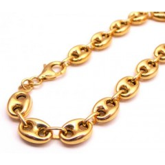 10k Yellow Gold Gucci Link Bracelet 8 Inch 7.50mm