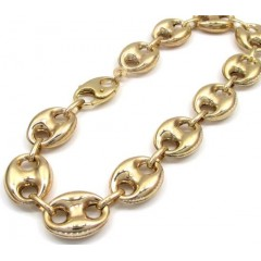 10k Yellow Gold Gucci Link Bracelet 8.25 Inch 12mm