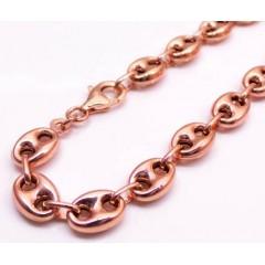 10k Rose Gold Gucci Link Bracelet 8 Inch 7.50mm