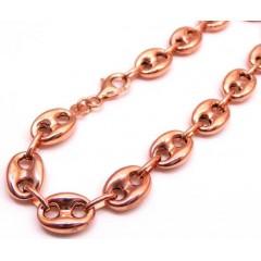 10k Rose Gold Gucci Link Bracelet 9 Inch 9mm