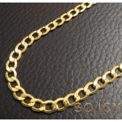 10k Yellow Gold Hollow Cuban Chain 18-26 Inch 4.50mm