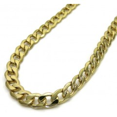 10k Yellow Gold Hollow Cuban Chain 20-26 Inch 5.20mm