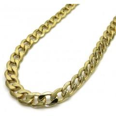 10k Yellow Gold Hollow Cuban Chain 18-26 Inch 5.20mm