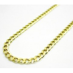 10k Yellow Gold Hollow Cuban Chain 24 Inch 2.50mm