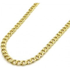 10k Yellow Gold Skinny Hollow Miami Cuban Chain 20-24 Inch 1.80mm