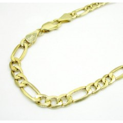 10k Yellow Gold Figaro Bracelet 8 Inch 5.2mm