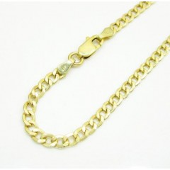 10k Yellow Gold Cuban Bracelet 8 Inch 3.50mm