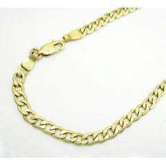 10k Yellow Gold Cuban Bra...