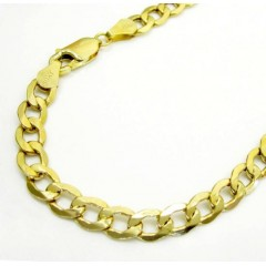 10k Yellow Gold Cuban Bracelet 8 Inch 5.5mm