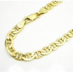 10k Yellow Gold Mariner Bracelet 8.50 Inch 5.3mm
