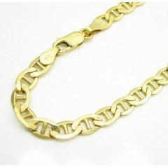 10k Yellow Gold Mariner Bracelet 8.50 Inch 5.3mm