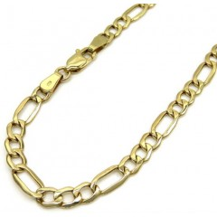 10k Yellow Gold Figaro Bracelet 8.5 Inch 3.9mm