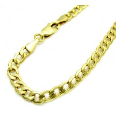 10k Yellow Gold Cuban Lite Bracelet 8 Inch 4mm
