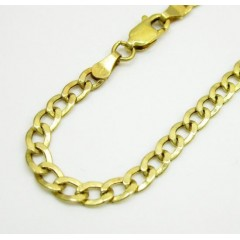 10k Yellow Gold Skinny Cuban Lite Bracelet 8 Inch 3.7mm