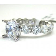 18k Gold Diamond Eternity Engagement Ring 3.72ct