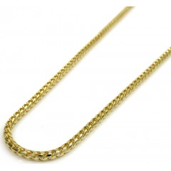 10k Yellow Gold Solid Franco Box Chain 20-24 Inch 2mm