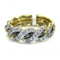 Ladies 14k Yellow Gold Diamond Eternity Wheat Wedding Band Ring 1.23ct