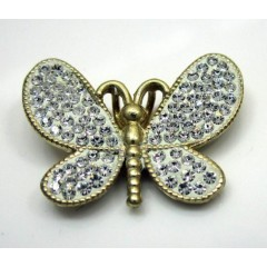 10k Yellow Gold Butterfly Pendant .25ct Cz