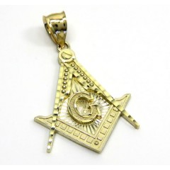 10k Yellow Gold Free Mason Medium Size Pendant