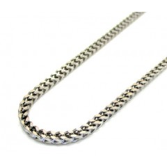 10k White Gold Franco Box Chain 18-26 Inch 2mm