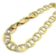 10k Yellow Gold Thick Diamond Cut Mariner Bracelet 9 Inch 9.2mm