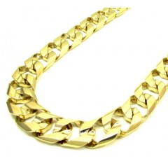 10k Yellow Gold Thick Cuban Chain 30 Inch 13.5mm
