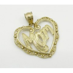 Ladies 10k Yellow Gold Fancy Mom Pendant