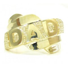 10k Yellow Gold Fathers D...