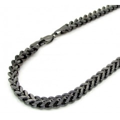 10k Black Gold Franco Bracelet 8.50 Inch 3.2mm