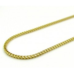 10k Yellow Gold Solid Skinny Franco Link Chain 18-30 Inch 1.1mm