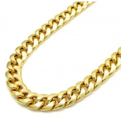 10k Yellow Gold Thick Hol...