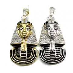 10k Yellow And White Gold Pharaoh Sphinx Pendant .57ct