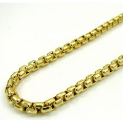 10k Yellow Gold Venetian Box Chain 22-26 Inch 3.5mm