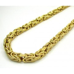 10k Yellow Gold Byzantine Chain 30 Inch 5.9mm