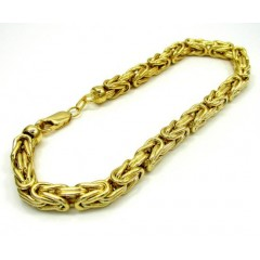 10k Yellow Gold Byzantine Bracelet 9.5 Inch 5.9mm