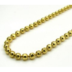 10k Yellow Gold Hexagon Bead Link Chain 20-30 Inch 2.3mm